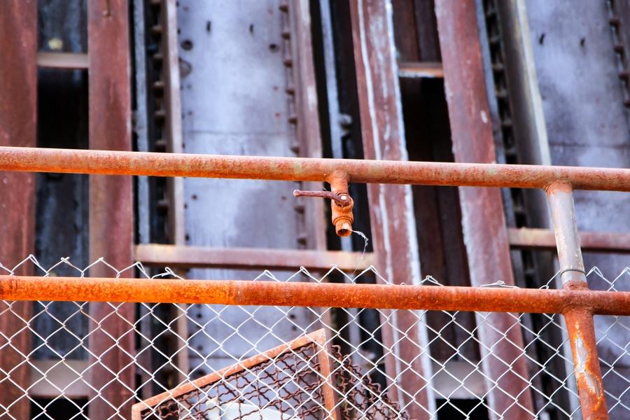 Auf Zeche Zollverein - Rostiger Anschluss