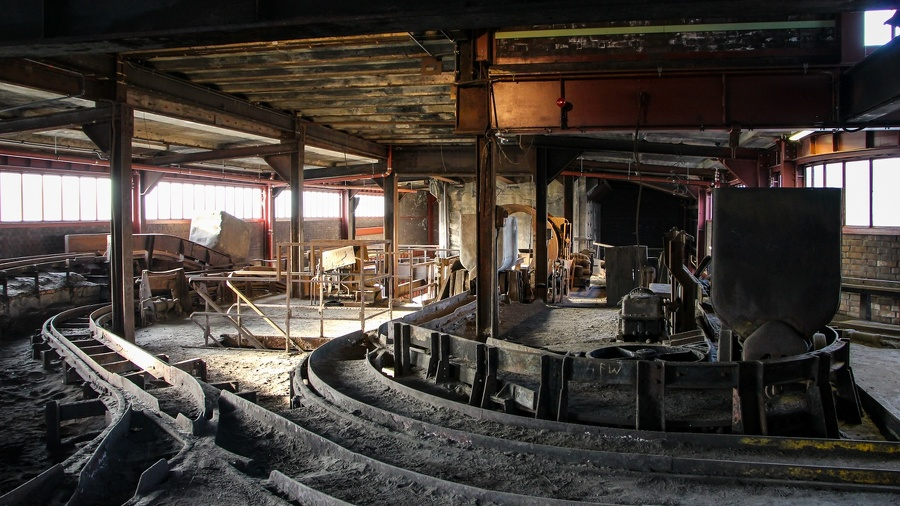 Auf Zeche Zollverein - Schienensystem